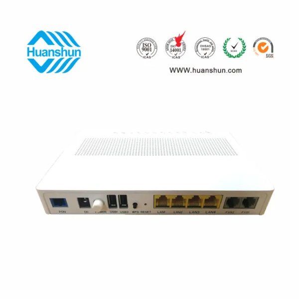 FTTH Optical Network Terminal for E/Gpon ONU (4GE+2VoIP+2USB+WiFi)