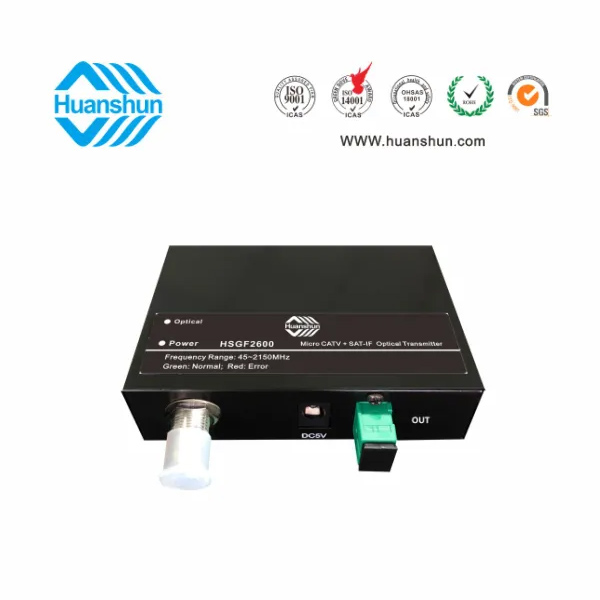 CATV+Sat 1310/1550 Optic Fiber Transmitter with AGC