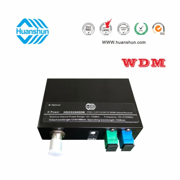 Wdm CATV - Satellite Intermediate Frequency Optical Receiver